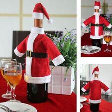 1Set Weihnachtsdeko für Weinflaschen Weihnachten Weihnachtsmantel Nikolausmütze