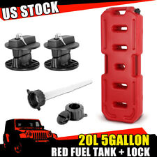 Red 20l Gallon Fuel Pack Gas Container Fuel Can With Lock For Jeep Offroad Polaris