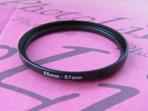 55mm to 57mm Stepping Step Up Filter Ring Adapter 55mm-57mm