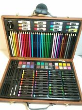 123 Art Set With Wooden Carrying Case