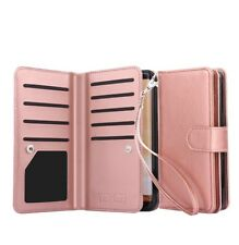 Samsung Galaxy S8 Plus PU Leather Wallet Case - Rose Gold