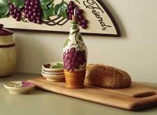 Ceramic Grape & Vine Design Dipping Set ~ Dipping Bowl & Oil Bottle
