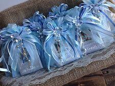 12 Pc Blue Baptism Favors/ Recuerdos  De Bautizo En Repujado/ Prayer Book