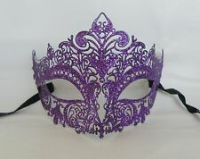 Purple Metal Venetian Party Masquerade Mask * NEW * Express Post Option.