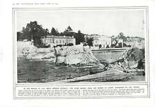 1914 Stone Bridge Over Marne At Lagny Destroyed By French Troops German Retreat