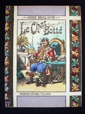 Vintage Child's Imagerie Pellerin Le Chat Botte Serie Brillante Book Inv1498