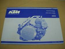 2003 KTM 250SX 250 SX Engine Motor Spare Parts Manual