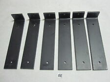 "(6) New Metal Shelving Brackets 9"" x 2""  x 1/4"""