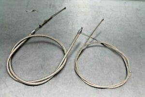 1962 Harley Davidson XLCH Sportster Braided Stainless Throttle & Clutch Cable