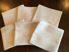 Six Vintage French Monogrammed Napkins