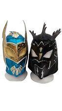 WWE Blue Sin Cara & Black Kalisto w/Tail Wrestling Masks Lucha Dragons Kid Adult
