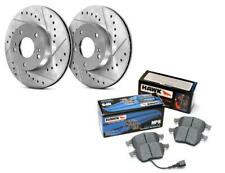 STOPTECH DRILLED SLOTTED ROTORS + HAWK PERFORMANCE PADS AUDI C5 A6 B5 S4 ALLROAD