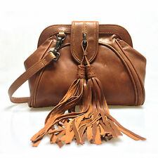 New Lusso Genuine Italian Distressed Leather Shoulder Handbag - Beautiful Brown!