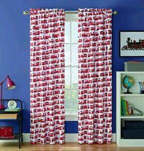 "Waverly Kids Express Train Blackout Single Window Curtain Panel 42"" X 63"" NEW"