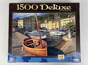Mega Brands 1500 Deluxe Large Puzzle The Harbor At Gargnano 2009