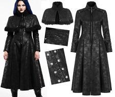 Manteau fourrure clouté cape brodé gothique baroque rock hiver corset Punk Rave