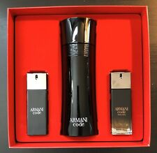Giorgio Armani Code Gift Set for Men 6.7oz EDT and 2 Travel Size 20ml NIB