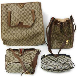 Gucci Old PVC Shoulder Bag 4 pieces set 518979