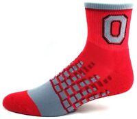 Ohio State Buckeyes NCAA M1500R Quarter Socks Red and Gray