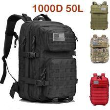 Nylon 50L Men Women Outdoor Military Backpack Tactical Bag Waterproof Rucksacks