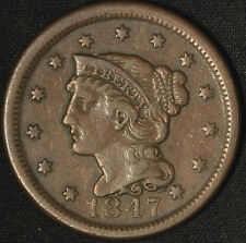 1847 Braided Hair Large Cent - Free Shipping USA