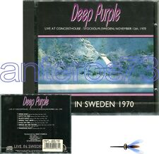 """DEEP PURPLE """"LIVE IN SWEDEN 1970"""" RARE CD MADE IN ITALY - SEALED"""