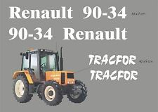 Kit stickers pour tracteur Renault 90-34 TRACFOR