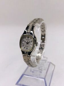 Ladies Pulsar V811 5300 Watch - Silver Tone - New Battery - Nice!