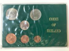 More details for 1975 irish 6 coin decimal unc collection eire ireland ½p to 50p folder *[20549]