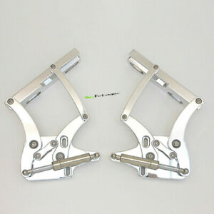 Polished Billet Aluminum Hood Hinge Kit For Ford Mustang 1967-1969 100-3903-Hing