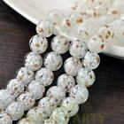 Hot 5pcs 12mm Lampwork Glass Dots Loose Spacer Round Beads Charms White