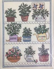 "Janlynn HERBAL WINDOW 1989 Counted Cross Stitch Kit #50-546 size 12""-16"" NEW"