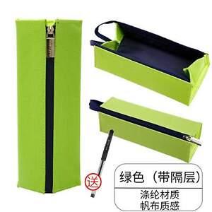 LIME GREEN Japan KOKUYO Large Capacity Folio Canvas Pen Bag Pen Case Pencil Case