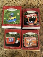 Lot of 4 Nostalgia Hallmark Keepsake Ornaments Hot Wheels Robot 2 Lunch Boxes