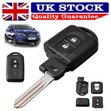 2 Button Flip Car Key Fob Case For Nissan Micra Xtrail Qashqai Juke Duke Navara