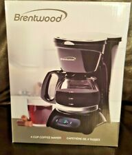Brentwood Appliances TS-214 Coffee Maker 4-Cup - Black Or White