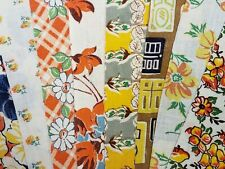 """Best 20 Vintage All Yellow Feedsack Fabric Quilt 5 x 8"""" Charms Flour Sack Pcs"""