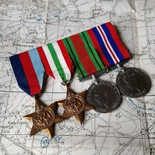 ORIGINAL WW2 BRITISH MEDAL GROUP ATS  ITALY STAR DEFENCE WAR 1939 1945 WWII ARMY