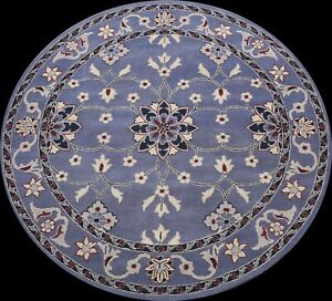 Traditional Floral Oriental Area Rug Hand-tufted Home Decor Carpet 8'x8' Round