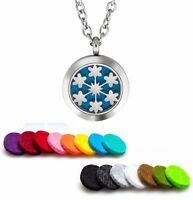 Essential Oil Diffuser Necklace Pendant Stainless Steel Aromatherapy 6 Stars