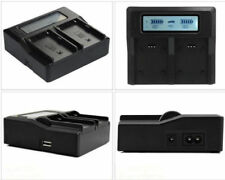Dual Battery LCD Quick Charger For Sony Li-ion NP-F970 NP-F950 NP-F960 NP-F550