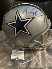 Tony Romo Autographed Dallas Cowboys Full Size Helmet Beckett Cert Blue Ink
