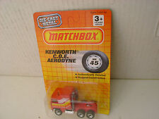 1990 MATCHBOX SUPERFAST #45 MB45 RED KENWORTH COE AERODYNE TRACTOR TRUCK NEW MOC