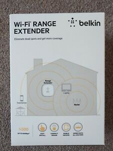 Belkin N300 Universal Wi-Fi Range Extender Wireless Booster Plug - Free Delivery