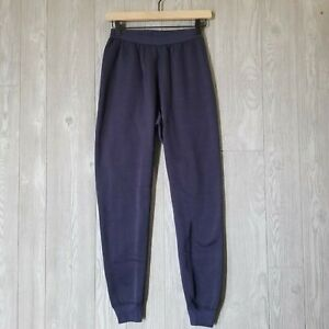 PATAGONIA Navy Capilene Fleece Lined Pants Under Layer Mens/Womens Small