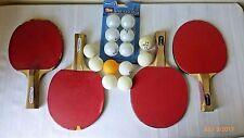 Vintage Ping Pong Paddles Balls Vortex Halex Sportcraft 4 Paddles 14 Balls