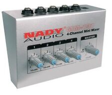 New 4-Channel Mini Mixer Board Sound Audio Small Compact Portable Quality Mixing