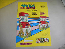 VIEW BOX  JAPANESE   kasco   ARCADE GAME  FLYER