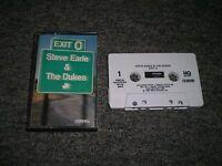 Steve Earle & The Dukes~Exit 0~1987 Folk Rock~Cassette Tape~FAST SHIPPING!!!
