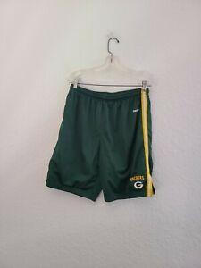 NFL Team Apparel Reebok Green Bay Packers Men's Large Green Shorts